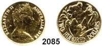 AUSLÄNDISCHE MÜNZEN,Australien Elisabeth II. seit 1952200 Dollars 1980.  (9,16 g. fein).  Koala auf Eukalyptusbaum.  Schön 57.  KM 71.  Fb. 44.  GOLD