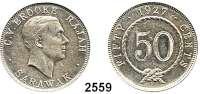 AUSLÄNDISCHE MÜNZEN,Sarawak 50 Cents 1927 H.  Schön 14.  KM 19.