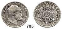 R E I C H S M Ü N Z E N,Oldenburg, Großherzogtum Nicolaus Friedrich Peter 1853 - 19002 Mark 1891.