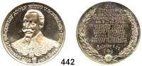 M E D A I L L E N,Personen Gustav II.Adolf von SchwedenVersilberte Medaille 1894 (Lauer).  Auf seinen 300. Todestag.  Brustbild fast von vorn. / 13 Textzeilen im Lorbeer- und Eichenzweig.  Herausgegeben vom Gustav-Adolf Verlag Dresden.  33,2 mm.  17,97 g.