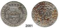 AUSLÄNDISCHE MÜNZEN,Angola Portugiesisch bis 1975Jospeh I. 1750 - 1777  10 Macutas 1770.  14,48 g.  KM 17.
