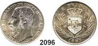 AUSLÄNDISCHE MÜNZEN,Belgisch - Kongo Leopold II. 1885 - 19092 Francs 1887.  Schön 7.  KM 7.
