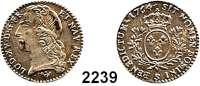 AUSLÄNDISCHE MÜNZEN,Frankreich Ludwig XV. 1715 - 177412 Sols (1/10 Ecu) 1764 S, Reims.  2,94 g.  Duplessy 1683.  KM 511.19.