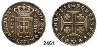 AUSLÄNDISCHE MÜNZEN,Portugal Peter IV. 1826 - 1828400 Reis 1826.  Schön 36.  KM 377.