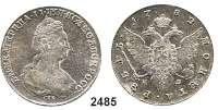 AUSLÄNDISCHE MÜNZEN,Russland Katharina II. 1762 - 1796Rubel 1782, St. Petersburg.  23,64 g. Bitkin 233.  Dav. 1685.  Craig 67 b.