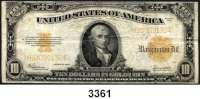 P A P I E R G E L D,AUSLÄNDISCHES  PAPIERGELD U.S.A.10 Dollars 1922.