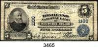 P A P I E R G E L D,AUSLÄNDISCHES  PAPIERGELD U.S.A.5 Dollars 23.4.1905.