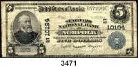 P A P I E R G E L D,AUSLÄNDISCHES  PAPIERGELD U.S.A.5 Dollars 1.5.1912.