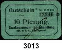 P A P I E R G E L D,D E U T S C H E      K O L O N I E N Swakopmunder Buchhandlung10 Pfennig o.D.  B 12246.  Ros. DSW-8.