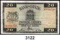 P A P I E R G E L D,D A N Z I G 20 Gulden 1.11.1937.  K...  Ros. DAN-68 a.