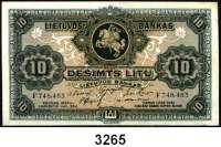 P A P I E R G E L D,AUSLÄNDISCHES  PAPIERGELD Litauen10 Litu 24.11.1927.  Pick 23 a.