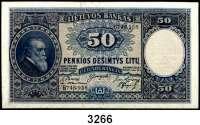 P A P I E R G E L D,AUSLÄNDISCHES  PAPIERGELD Litauen50 Litu 31.3.1928.  Pick 24 a.