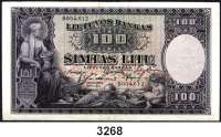 P A P I E R G E L D,AUSLÄNDISCHES  PAPIERGELD Litauen100 Litu 31.3.1928.  Pick 25 a.