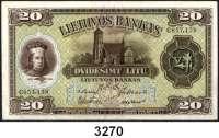 P A P I E R G E L D,AUSLÄNDISCHES  PAPIERGELD Litauen20 Litu 5.7.1930.  Pick 27 a.