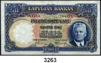 P A P I E R G E L D,AUSLÄNDISCHES  PAPIERGELD Lettland50 Latu 1934.  Pick 20 a.