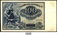 P A P I E R G E L D,AUSLÄNDISCHES  PAPIERGELD Estland100 Krooni 1939.  Pick 66 a.