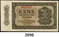 P A P I E R G E L D,D D R 1 Deutsche Mark 1948.  AM 208058 bis AM 208060.  Ros. SBZ-11 b.  LOT 3 Scheine.