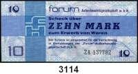 P A P I E R G E L D,D D R FORUM-Warenschecks 1979.  10 Mark.  Austauschnote ZA.  Ros. DDR-32 b.