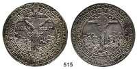 M E D A I L L E N,Religion; Liebe und Ehe Pesttaler 1619.  Christus am Kreuz. / Die eherne Schlange am Kreuz.  49,4 mm.  29,05 g.