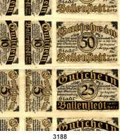 P A P I E R G E L D   -   N O T G E L D,Sachsen-Anhalt BallenstedtStadt.  Bogen mit 77 ungebrauchten Scheinen (36x 5 Pfg., 30x 10 Pfg., 6x 25 Pfg., 5x 50 Pfg.).  Der Bogen selbst ist teilweise fleckig.  G/M 61.2.