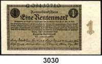 P A P I E R G E L D,R E N T E N B A N K 1 Rentenmark 1.11.1923.  G...  Ros. DEU-199.