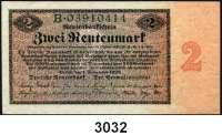 P A P I E R G E L D,R E N T E N B A N K 2 Rentenmark 1.11.1923.  B...  Ros. DEU-200