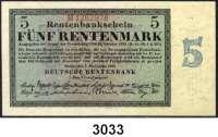P A P I E R G E L D,R E N T E N B A N K 5 Rentenmark 1.11.1923.  KN 7stellig.  M...  Ros. DEU-201 b.