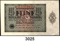 P A P I E R G E L D,I N F L A T I O N 5 Billionen Mark 15.3.1924.  Ros. DEU-172.