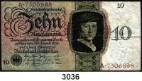 P A P I E R G E L D,R E I C H S B A N K 10 Reichsmark 11.10.1924.  P/A...  Ros. DEU-173a.