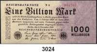 P A P I E R G E L D,I N F L A T I O N 1 Billion Mark 1.11.1923.  Ros. DEU-155c.
