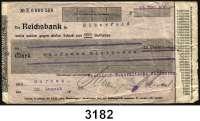 P A P I E R G E L D   -   N O T G E L D,Rheinland/Rheinprovinz DornapRheinisch-Westfälische-Kalkwerke.  15 Millionen Mark 22.8.1923.  Scheck auf Reichsbank in Elberfeld.  Keller 1055.c.