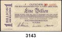 P A P I E R G E L D   -   N O T G E L D,Reichsbahn Altona500.000 Mark 8.8.1923 bis 1 Billion Mark 14.11.1923.  Müller/Geiger/Grab.  aus 001.1 bis 001.23.  LOT 15 verschiedene Scheine.