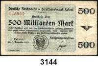 P A P I E R G E L D   -   N O T G E L D,Reichsbahn Erfurt1 Million Mark 12.8.1923 bis 500 Milliarden Mark 3.11.1923.  Müller/Geiger/Grab.  007.1 bis 001.10.  LOT 10 verschiedene Scheine.