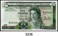 P A P I E R G E L D,AUSLÄNDISCHES  PAPIERGELD Gibraltar1 und 5 Pfund 4.8.1988.  Pick 20 e und 21 b.  LOT 2 Scheine.