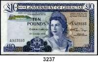 P A P I E R G E L D,AUSLÄNDISCHES  PAPIERGELD Gibraltar10 Pfund 21.10.1986.  Pick 22 b.  LOT 2 Scheine.