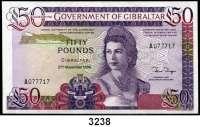 P A P I E R G E L D,AUSLÄNDISCHES  PAPIERGELD Gibraltar50 Pfund 27.11.1986.  Pick 24.