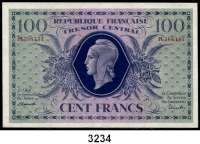 P A P I E R G E L D,AUSLÄNDISCHES  PAPIERGELD Frankreich100 Francs 2.10.1943.  Pick 105 a.