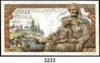 P A P I E R G E L D,AUSLÄNDISCHES  PAPIERGELD Frankreich1000 Francs 11.2.1943.  Pick 102.
