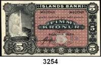 P A P I E R G E L D,AUSLÄNDISCHES  PAPIERGELD Island5 Kronen 1920.  Pick 15.