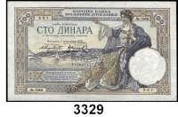 P A P I E R G E L D,AUSLÄNDISCHES  PAPIERGELD Serbien100 Dinara 1.5.1941;   500 Dinara 1.11.1941;  500 und 1000 Dinara 1.5.1942;  Jugoslawien,  100 Dinara 1.12.1929;  100 Dinara 15.7.1934.      Pick 23, 27 a, 31, 32 a.  Jugoslawien Pick 27, 31.  LOT 6 Scheine.
