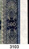 P A P I E R G E L D,D D R 100 Deutsche Mark 1948.  Serie C.  Fehldruck