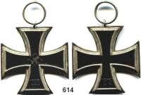Orden, Ehrenzeichen, Militaria, Zeitgeschichte,Deutschland Deutsches ReichEisernes Kreuz  2. Klasse 1939.  Mit Eisenkern.  Schinkelform.