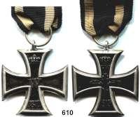 Orden, Ehrenzeichen, Militaria, Zeitgeschichte,Deutschland Deutsches ReichEisernes Kreuz  2. Klasse 1870.  Öse nachgelötet.  Am alten Band.