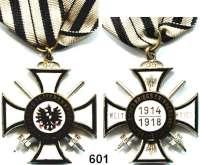 Orden, Ehrenzeichen, Militaria, Zeitgeschichte,Deutschland PreussenPreußen, Preußisches Kriegserinnerungskreuz, 1914/18.  Am Originalband.