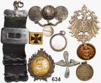 Orden, Ehrenzeichen, Militaria, Zeitgeschichte,Deutschland L O T S      L O T S      L O T SLOT von 9 Teilen aus dem Kaiserreich meist mit Bezug auf das Militär.
