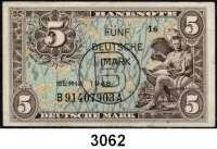 P A P I E R G E L D,BUNDESREPUBLIK DEUTSCHLAND 5 Deutsche Mark 1948.  Mit B - Stempel.  B....A.  Ros. WBZ-16a.