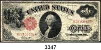 P A P I E R G E L D,AUSLÄNDISCHES  PAPIERGELD U.S.A.1 Dollar 1917.  Pick 187.  LOT 4 Scheine.