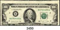 P A P I E R G E L D,AUSLÄNDISCHES  PAPIERGELD U.S.A.100 Dollars 1988.  Verschnitten.  Pick 485.