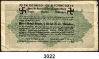 P A P I E R G E L D,I N F L A T I O N 1000 Mark 15.9.1922. OE.  Rückseitig antisemitischer Aufdruck.  Intressen-Gemeinschaft deutsch-französischer Kapitalisten.