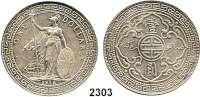 AUSLÄNDISCHE MÜNZEN,G R O S S B R I T A N N I E N Georg V. 1910 - 1936Trade Dollar 1912 B, Bombay.  Schön A 1.  KM T 5